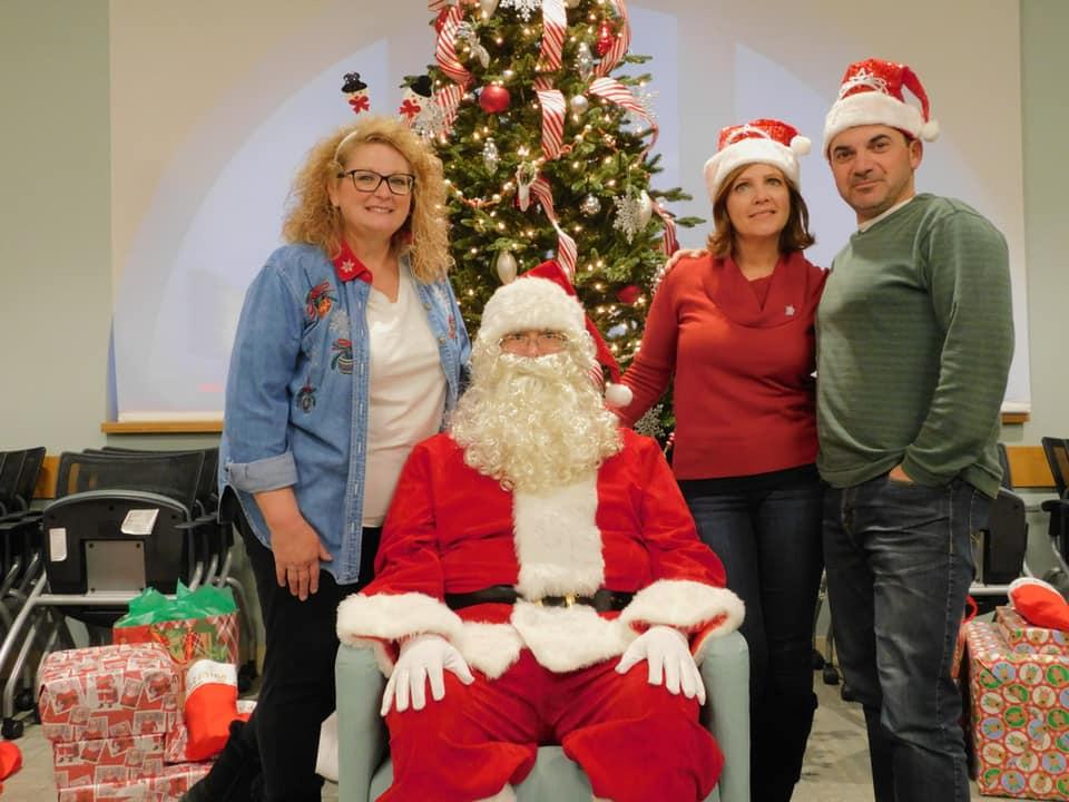 Santa Visits Women's Shelter