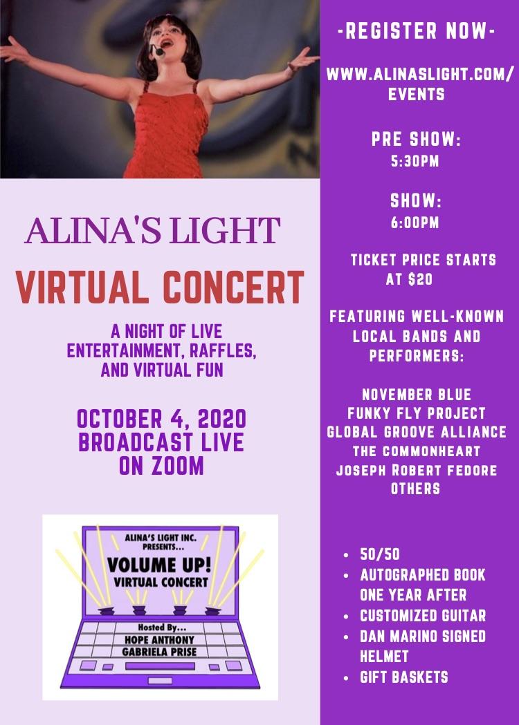 Volume Up Virtual Concert 2020 Flyer